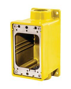 Hubbell WATERTIGHT FD BOX 3/4 YELLOW