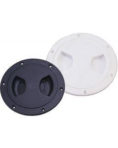 """Seasense Waterproof Deck Plate, Black, 6-13/16"""" (Screw-In)"""