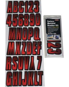 Hardline Letter/Number Set, Red/Black