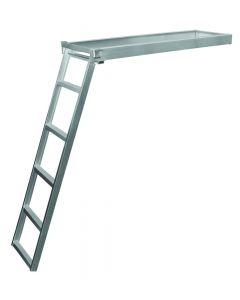 JIF Marine, LLC 5 Step Under Deck Ladder, Round Front, Anodized Alum, Mt Hardware Included - Jif Marine
