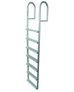 JIF Marine, LLC 7 Wide Step Stationary Ladder, Aluminum - Jif Marine
