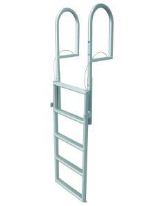 JIF Marine, LLC 5 Step Retractable Dock Lift Ladder, Aluminum - Jif Marine