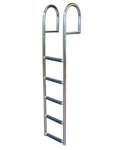 JIF Marine, LLC 5 Step Stationary Dock Ladder, Stainless 316 - Jif Marine