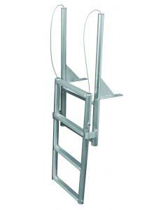 """JIF Marine, LLC 4 Step Dock Lift Ladder, Standard 2"""" Step, Anodized Aluminum - Jif Marine"""