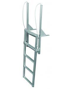 """JIF Marine, LLC 5 Step Dock Lift Ladder, Standard 2"""" Step, Anodized Aluminum - Jif Marine"""