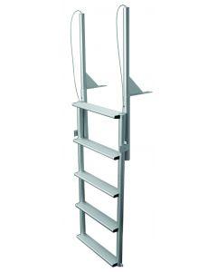 "JIF Marine, LLC 5 Step Dock Lift Ladder, Wide 4"" Step, Anodized Aluminum - Jif Marine"