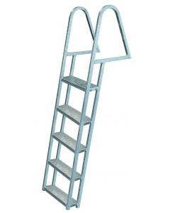 JIF Marine, LLC 5 Step Dock Ladder, Galvanized - Jif Marine