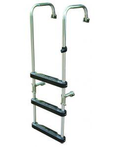 "JIF Marine, LLC Transom Ladder, 3-Step, 41"" - Jif Marine"