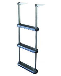 JIF Marine, LLC 3 Step Telescoping Drop Ladder, Stainless 316, Plastic Step - Jif Marine