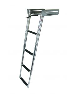 JIF Marine, LLC 4 Step Under Platform Sliding Ladder, Stainless 316 - Jif Marine
