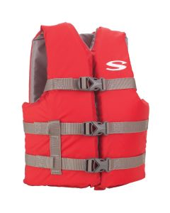 Stearns Classic Youth Life Jacket - 50-90lbs - Red/Grey
