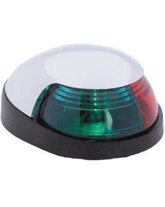 Attwood Quasar Red Green Bow Light, Chrome Housing - Navigation Light