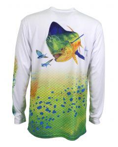 Guy Harvey Men's Dorado Pro UVX Long Sleeve Performance T-Shirt