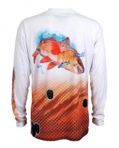 Guy Harvey Men's Redfish Pro UVX Performance Long Sleeve T-Shirt