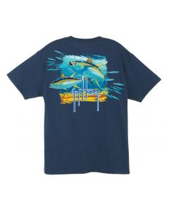 Guy Harvey  Men's Short Sleeve Tuna Splash T-Shirt