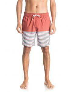 """Quiksilver Waterman Men's Breezy Stripe 18"""" Volley Boardshorts"""