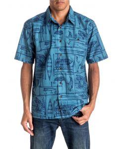 Quiksilver Waterman Men's Angler Short Sleeve Shirt