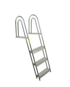Garelick 4 Step Anodized Aluminum Dock/Raft Ladder - Fixed Model Boat Boarding Ladders