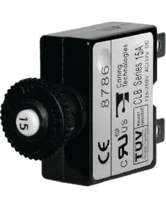 Blue Sea Systems Circuit Breaker, Push Button, 30A 7059