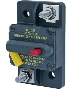 Blue Sea Systems Circuit Breaker, 100Amp, Surface Mount