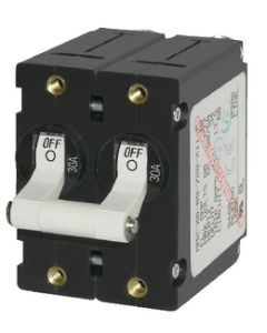 Blue Sea Systems Circuit Breaker AA2 30A, White