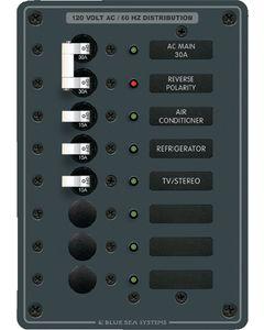 Blue Sea Systems AC Circuit Breaker Main + 6 Position Panel, 120V