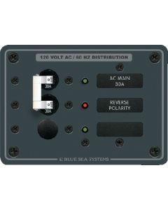 Blue Sea Systems AC Circuit Breaker Main + 1 Position Panel, 120V