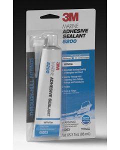 3M Marine Adhesive Sealant 5200 Polyurethane White 3oz