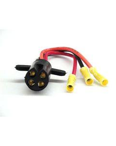 Rig Rite Trolling Motor Male Plug, 10 Ga. 3-wire, V-Groove