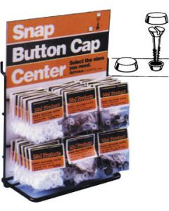 S&J #10 & #12 Snap Button Cap, White - S & J Products