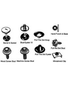 S&J Pull The Dot Stud Snap Canvas Fasteners, 4/Bag - S & J Products