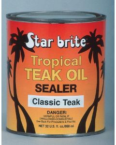 Starbrite Tropical Teak Oil Sealer, Classic, 32oz - Star Brite