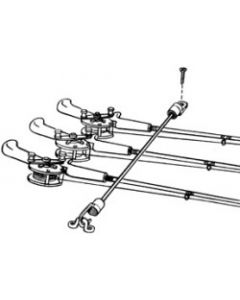 "T-H Marine Supply Rod Tamer Rod Straps 18"", Holds 7-Rods"