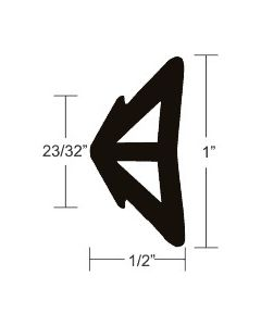 "Taco Marine 1""x1/2"" Black Bulk Flexible Rub Rail Insert 50' - Taco V12-0338BKA50-1"