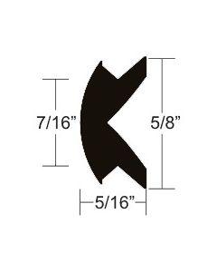 "Taco Marine 5/8"" x 5/16"" Black Flexible Vinyl Rub Rail Insert 50' - Taco"