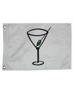 """Taylor Made, White Flag, Cocktail, 12"""" x 18"""", Signal Flags"""