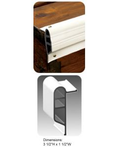 "Taylor Made Dock Pro 3.5""x25' Heavy Duty Vinyl Double Molded Edge Gard Dock Edging Medium Edge Guard"