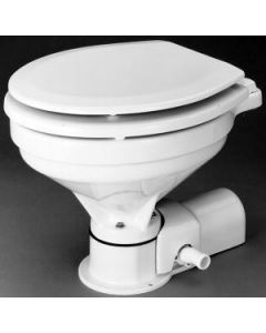 Jabsco Quiet Flush Electric Compact Toilet, 14'', Freshwater, 12V 18 25