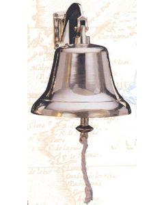 "High Shine Hanging Bell with Bracket, Brass, 10"" Diameter"