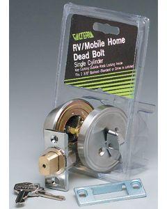 Valterra Dead Blt Dl W/Key & Knob 2 3/8 - 3 Way Universal Single Cylinder Deadbolt
