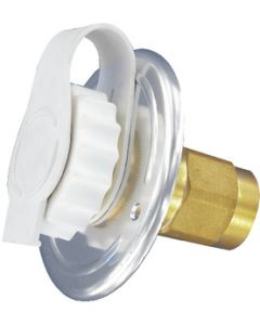Valterra Metal Inlet 2 3/4In Wht Carded - Flush Mount Water Inlet