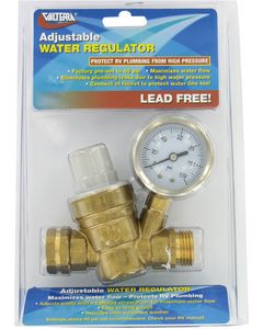 Valterra Adj Water Reg Brass Lead-Free - Adjustable Water Regulator
