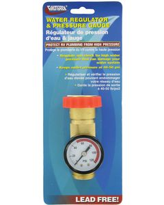 Valterra Wtr Reg Gauge Combo Lead-Free - Lead-Free Water Regulator