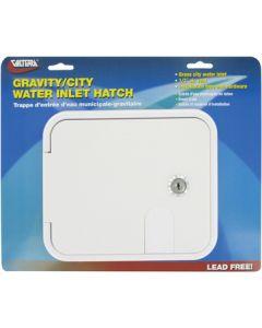 Valterra Grav/City Hatch White Carded - Gravity/City  Water Inlet Hatch
