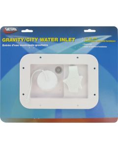 Valterra Grav/City Rect Flnge Wht Crd - Gravity/City  Water Inlet