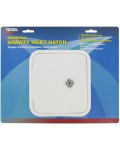 Valterra Grav Hatch White Carded - Universal Gravity Inlet Hatch