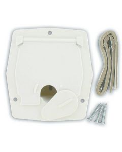 Valterra Small Square Wht Cable Hatch - Cable Hatch