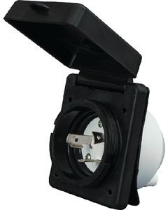 Power Inlet 50A Black Carded - Mighty Cord&Reg; Power Inlet
