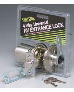 Valterra Knob/Lever Universal Entrance - Rv Entrance Lock
