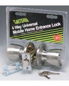 Valterra Knob/Knob Universal Entrance - Mobile Home Entrance Lock
